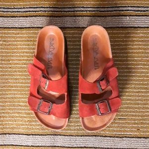 Anthropologie Sixtyseven Leather Platform Slippers